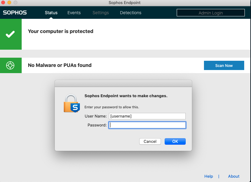 screenshot of mac admin login prompt