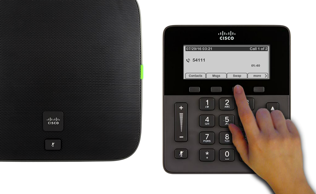 You can swap between holding and active calls by using the Swap softkey.