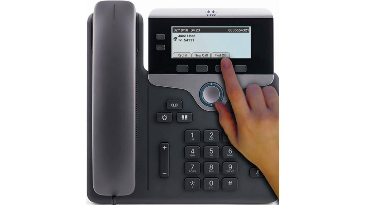"To cancel call forwarding, press the ""Forward Off"" softkey."