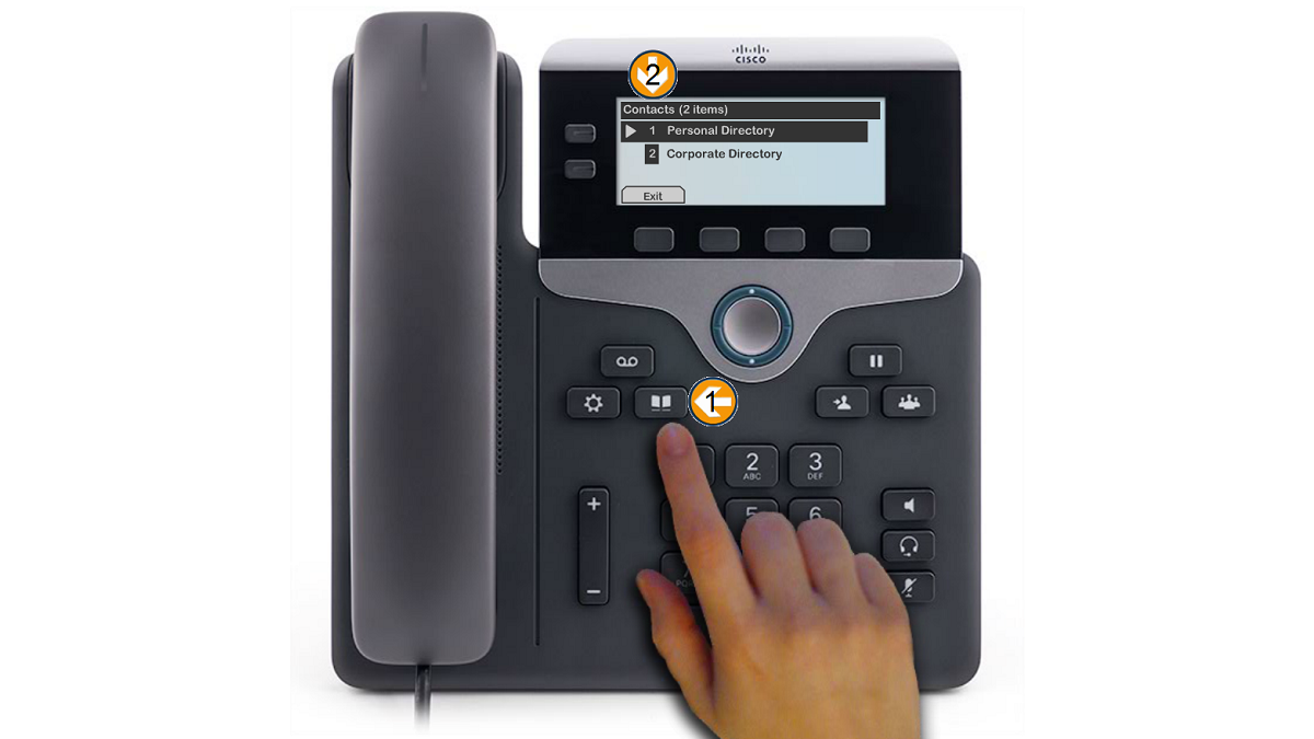 The Cisco IP 7800 Series Phones provide you with access to contacts using the Personal and Corporate directories.