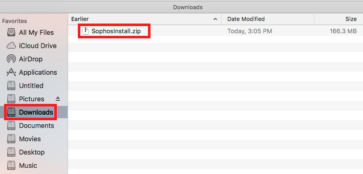 Extract the zip from the downloads folder