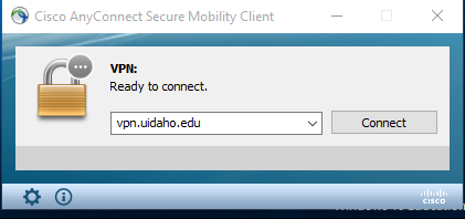 Connect to the VPN.