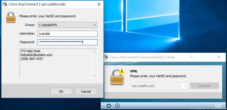 Enter your UI credentials.
