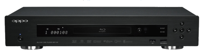 A photo of the Oppo BDP-103 Blu-ray player.