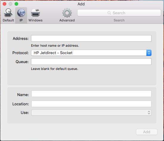 Choose IP Printing Option
