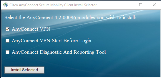 Select at least the first option to install.