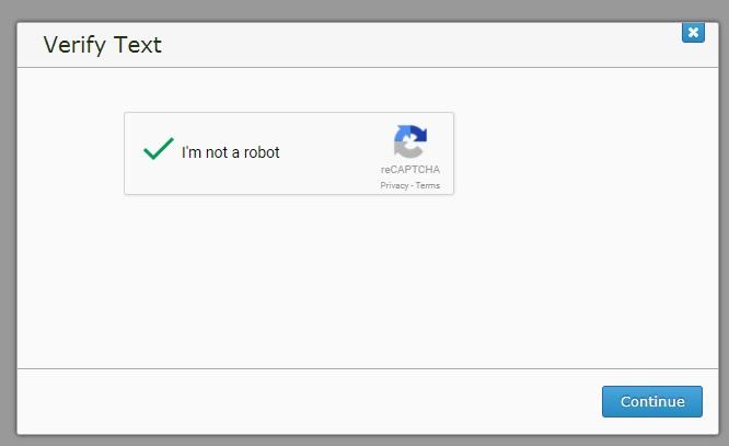 A screenshot of a completed ReCaptcha.