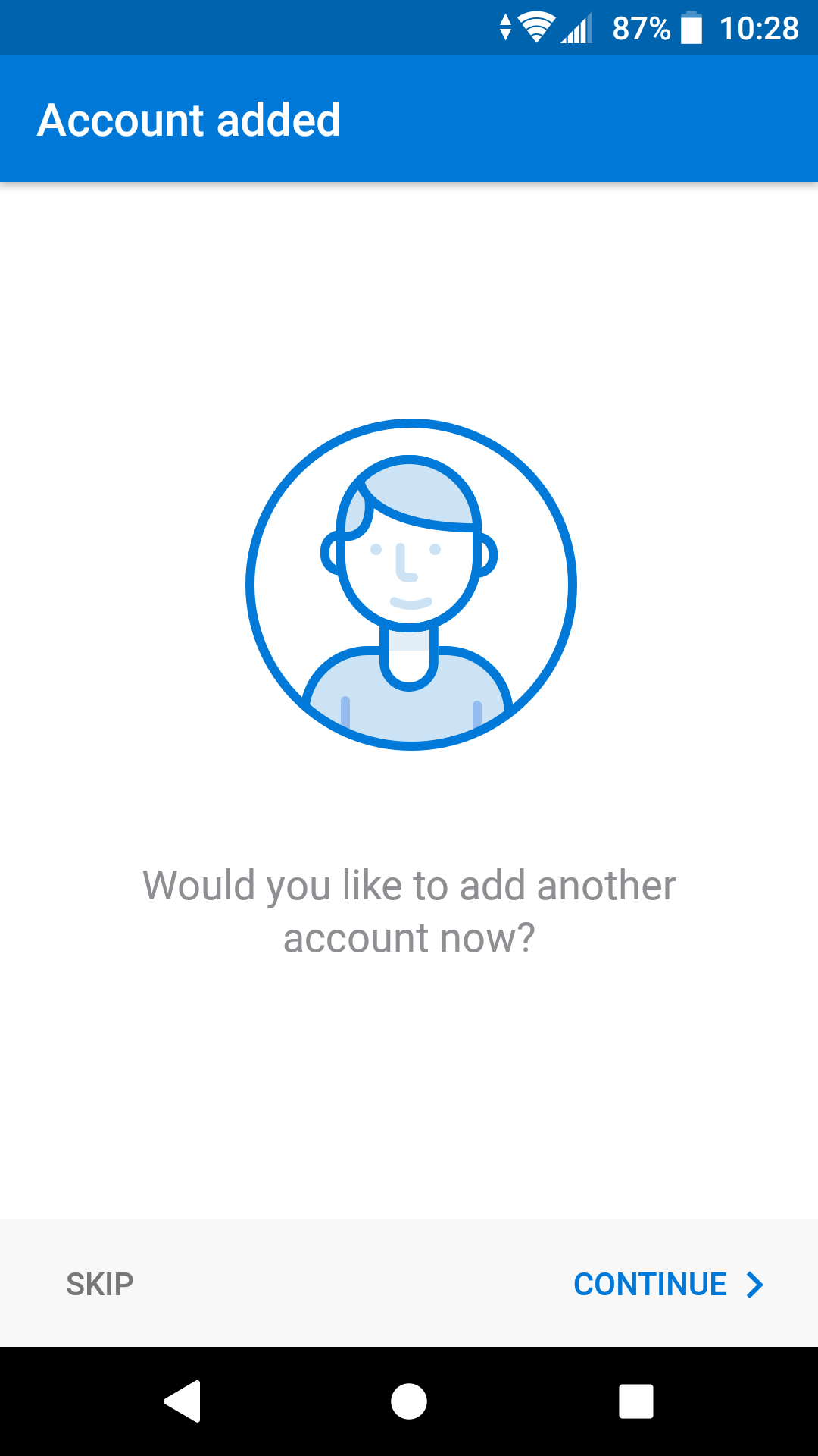 Outlook add another account