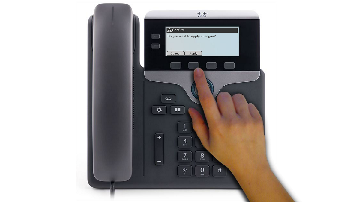 Image indicating the correct soft key.