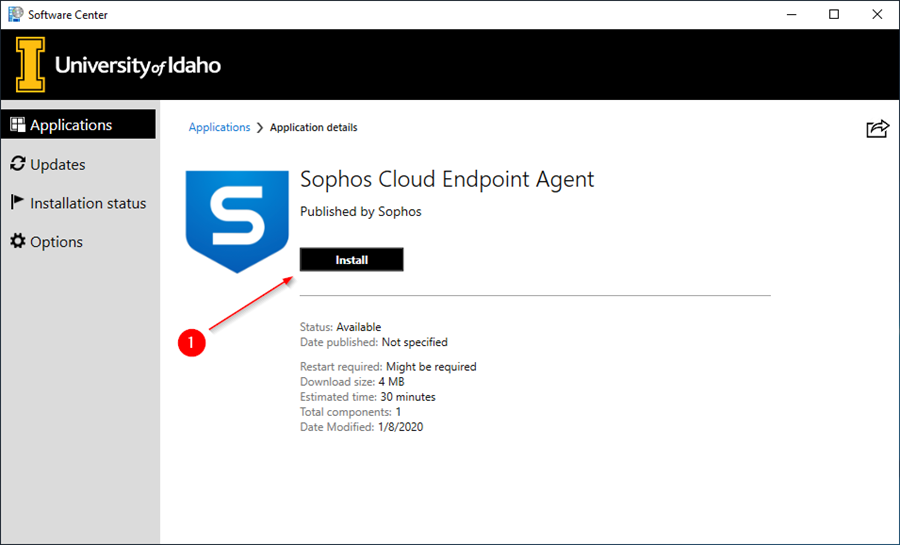 Install Sophos Endpoint