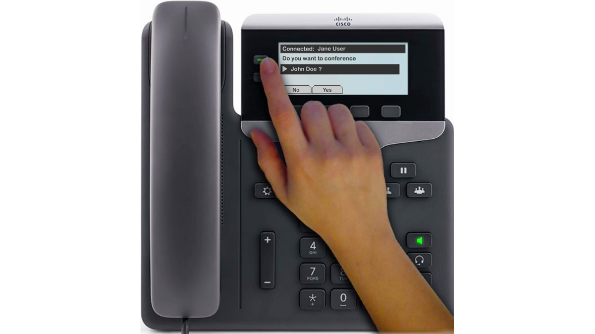 "When you want to combine existing calls that are already on your phone (connected or holding), use the ""Conference"" hard key or softkey."