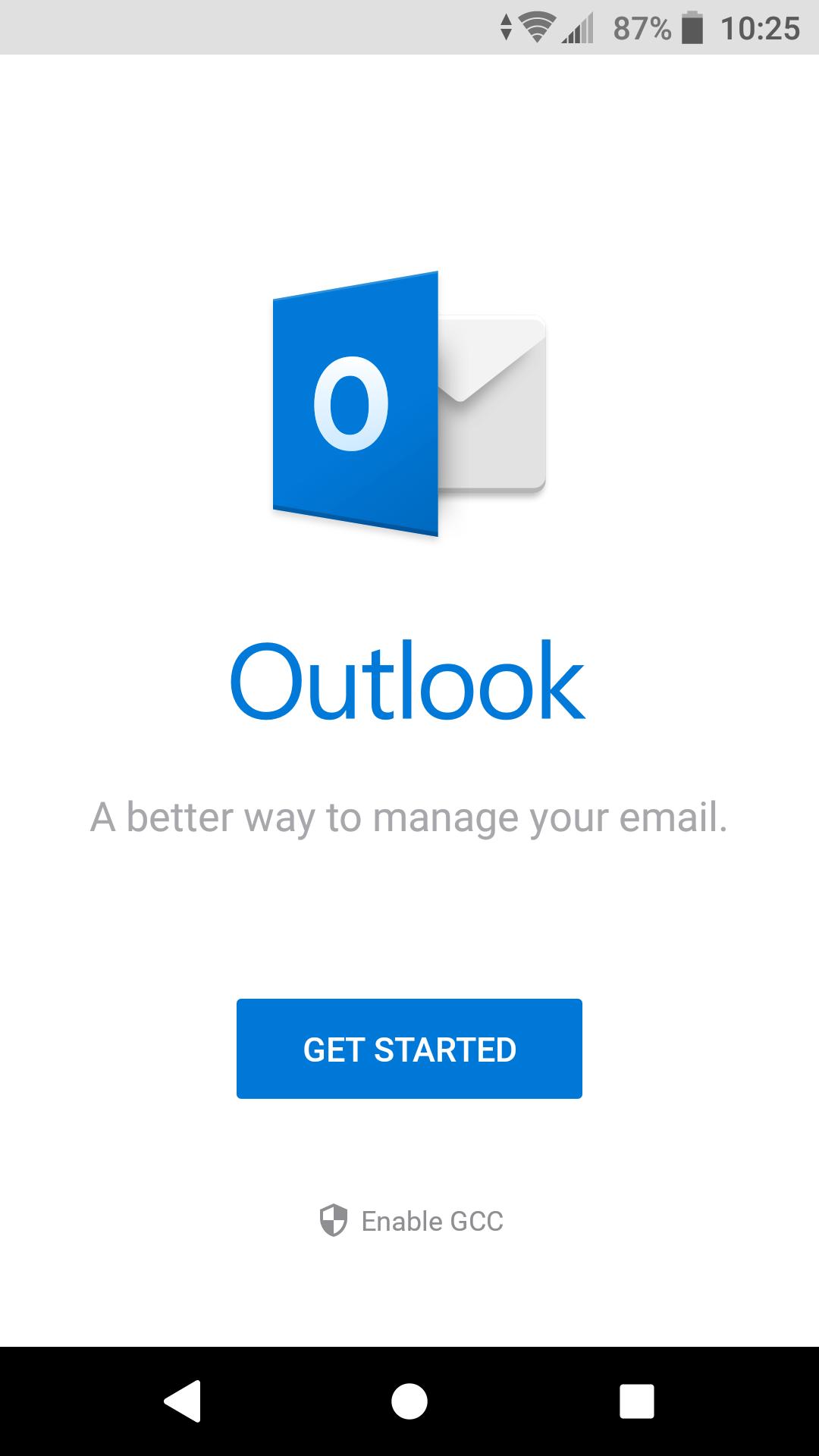 Outlook get started