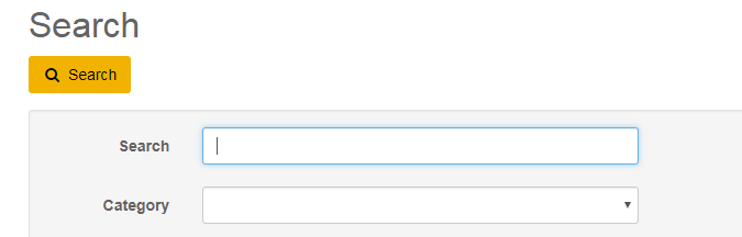 Screenshot of the KB search option