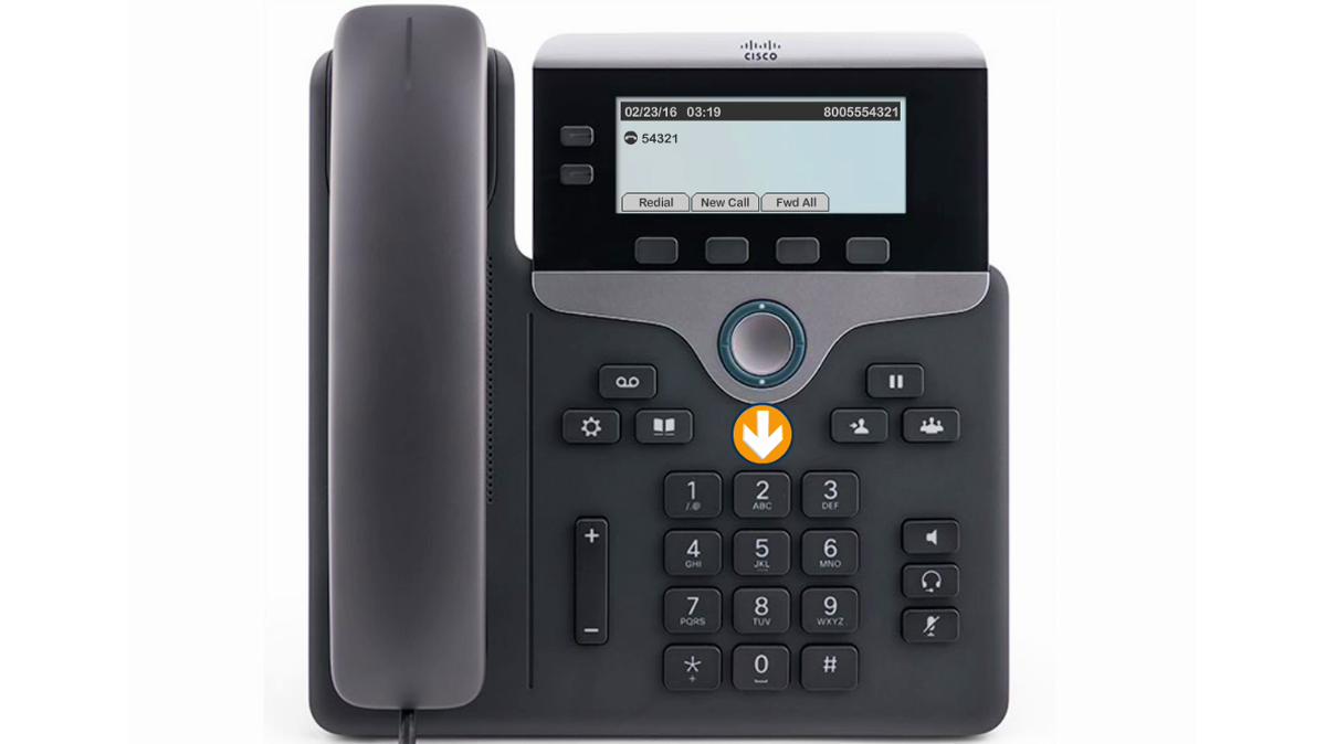 Image of the phone indicating the dialing pad.
