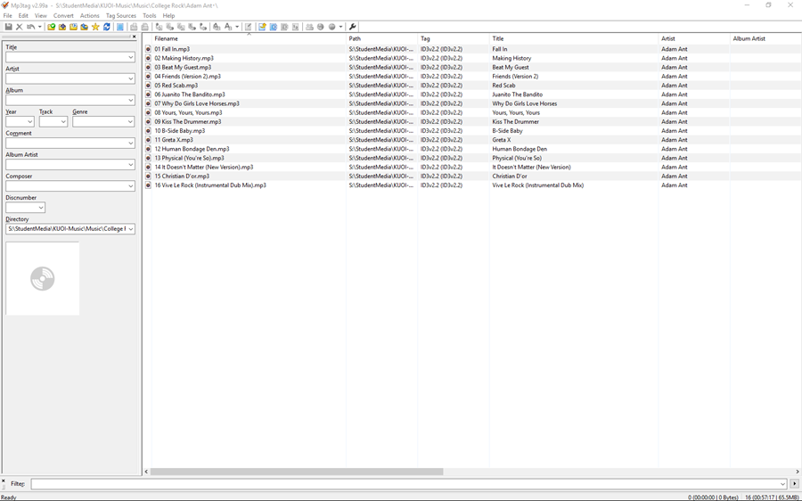 Mp3tag after directory scan
