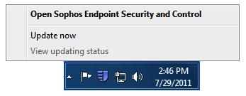 Win 8 Open Sophos Endpoint