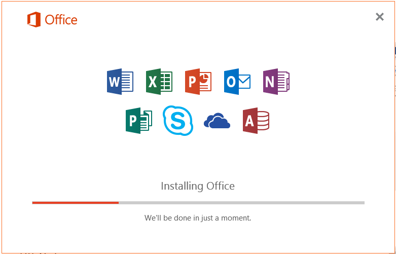 Office will install.