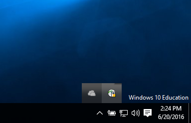 To open the client, select the icon from the task bar.