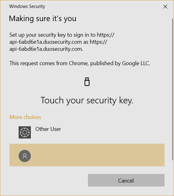 Touch key to continue