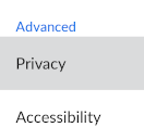 Select 'Privacy'